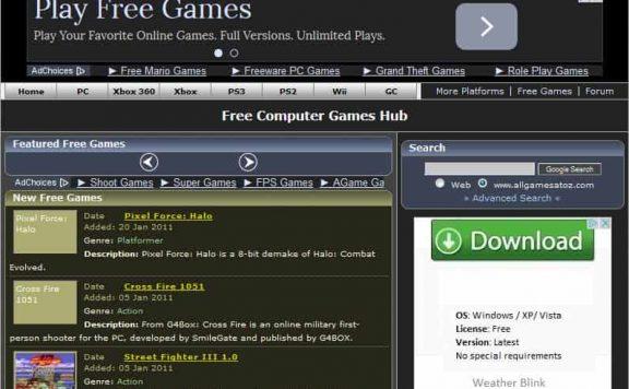 Old AllGamesAtoZ Website